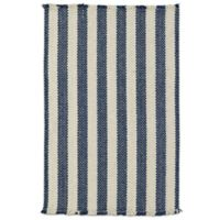 Capel Nags Head Striped 3-Foot x 5-Foot Area Rug in Blue