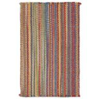 Capel Nags Head Striped 3-Foot x 5-Foot Bright Multicolor Area Rug