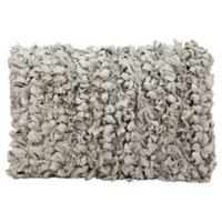 Mina Victory Loop Shag Rectangle Throw Pillow in Grey