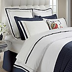 DownTown Company Chelsea Queen Duvet Cover in White/Navy