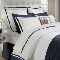 DownTown Company Chelsea King Duvet Cover in White/Navy