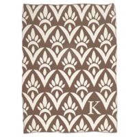 Sleeping Partners Damask Knit Throw Blanket in Natural