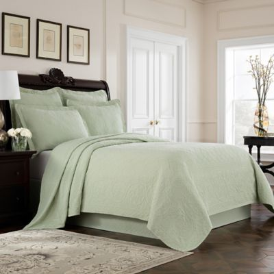 Williamsburg Richmond King Coverlet In Green