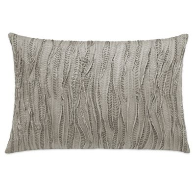 vera wang marble shibori stitched oblong throw pillow in beige