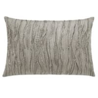 Vera Wang™ Marble Shibori Stitched Oblong Throw Pillow in Beige