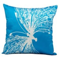 Mina Victory Freedom 18-Inch Square Indoor/Outdoor Throw Pillow in Turquoise
