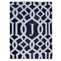 Sleeping Partners Interlock Knit Throw Blanket in Navy