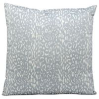 Mina Victory Leopard 20-Inch Square Outdoor Throw Pillow in Grey