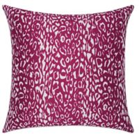 Mina Victory Leopard 20-Inch Square Outdoor Throw Pillow in Lilac