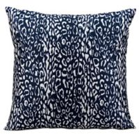 Mina Victory Leopard 20-Inch Square Outdoor Throw Pillow in Navy