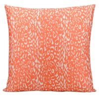 Mina Victory Leopard 20-Inch Square Outdoor Throw Pillow in Orange
