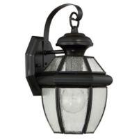 Quoizel Newbury 12-Inch Medium Wall Lantern in Mystic Black