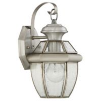 Quoizel Newbury 12-Inch Medium Wall Lantern in Pewter