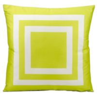 Mina Victory Squares 20-Inch Indoor/Outdoor Throw Pillow in Green
