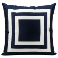 Mina Victory Squares 20-Inch Indoor/Outdoor Throw Pillow in Navy