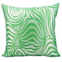 Mina Victory Zebra Indoor/Outdoor Throw Pillow in Green