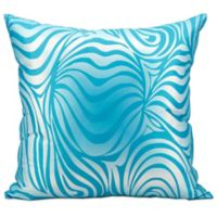 Mina Victory Zebra Indoor/Outdoor Throw Pillow in Turquoise