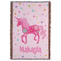 Pretty Unicorn Throw Blanket