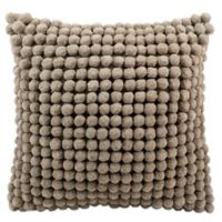 Mina Victory™ 20-Inch PomPom Square Throw Pillow in Grey