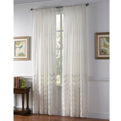 Callisto Home Almada Rod Pocket Sheer Window Curtain Panel In White