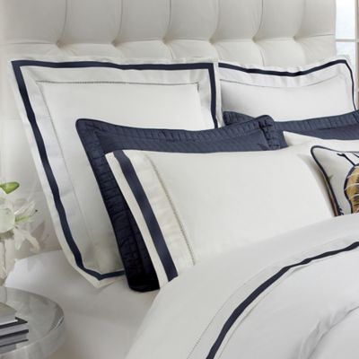 downtown company chelsea euro pillow sham in whitenavy
