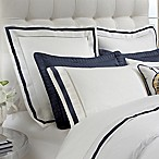 DownTown Company Chelsea Euro Pillow Sham in White/Navy