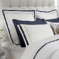 DownTown Company Chelsea Boudoir Pillow Sham in White/Navy