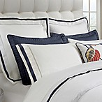 DownTown Company Chelsea Standard Pillow Sham in White/Navy