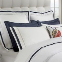 DownTown Company Chelsea King Pillow Sham in White/Navy