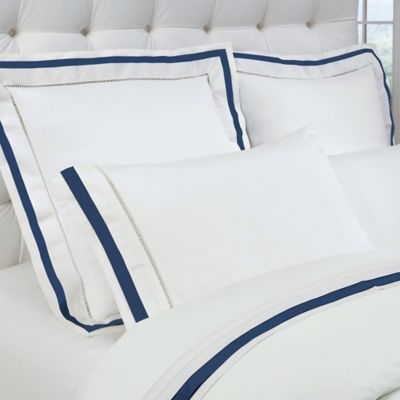 DownTown Company Chelsea King Sheet Set In White/Navy