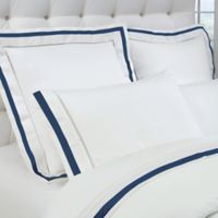 DownTown Company Chelsea Queen Sheet Set in White/Navy