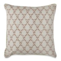 Lotus 16-Inch Square Throw Pillow in Natural