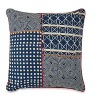 Spun™ by Welspun Patchwork 16-Inch Square Throw Pillow in Blue