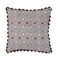 Blue Diamond Square Throw Pillow in Multi