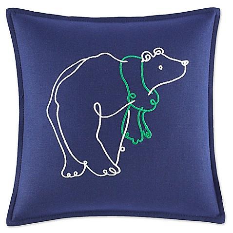 Circotm Decorative Pillow Mini Bear : ED Ellen DeGeneres Embroidered Polar Bear Mini Throw Pillow in Navy - Bed Bath & Beyond