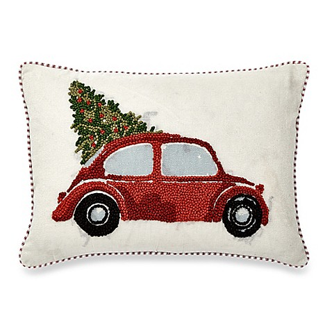 Throw Pillow In French : French Knot Car Oblong Throw Pillow in Red - Bed Bath & Beyond