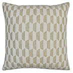 Costa 20  x 20  Natural Chainstitch Throw Pillow