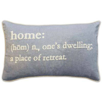 home definition oblong throw pillow in grey - Grey Throw Pillows