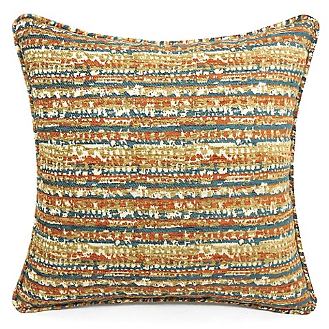 Bed Bath And Beyond Orange Throw Pillows : Edom Square Throw Pillow in Burnt Orange - Bed Bath & Beyond