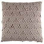Kline 18-Inch Square Feather Fill Throw Pillow in Oatmeal