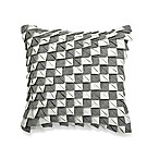 Surface 18-Inch Square Throw Pillow in Grey/White