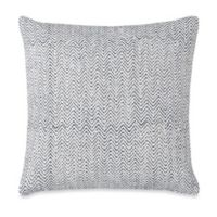 Zig Zag Square Throw Pillow in Cream