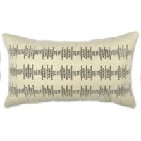 Embroidered Dot Rectangle Throw Pillow in Ivory