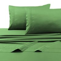 Tribeca Living 500-Thread-Count Egyptian Cotton 6-Piece Queen Sheet Set in Green