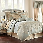 Waterford® Linens Aramis Queen Comforter Set in Aqua/Gold