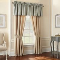 Waterford® Linens Aramis 84-Inch Window Curtain Panel Pair in Aqua/Gold