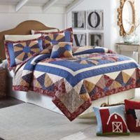 Mary Jane's Home Busy Bee Full/Queen Quilt in Blue/Red
