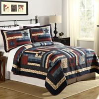 Mary Jane's Liberty King Quilt in Navy