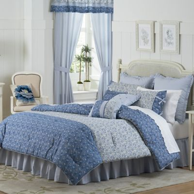 Charmant Mary Janeu0027s Home Dora Queen Comforter Set In Blue