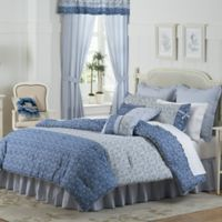 Mary Jane's Home Dora Queen Comforter Set in Blue